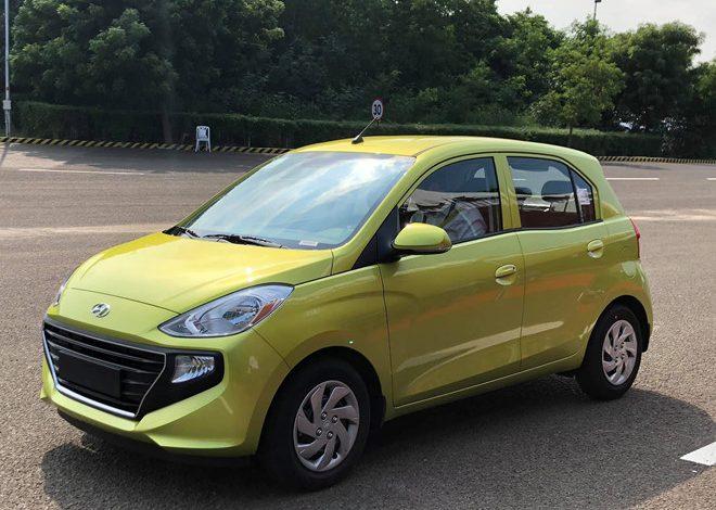 Hyundai Santro là mẫu xe cỡ nhỏ giá siêu rẻ, được định vị dưới Grand i10.