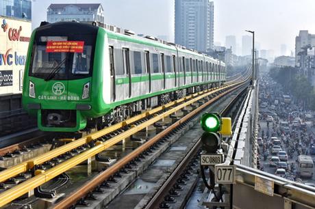 Tuyến đường sắt Cát Linh - Hà Đông đã vận hành thử được 6 tháng. Ảnh: Giang Huy.