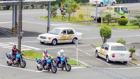 Đường chạy sa hình trong một trường dạy lái ở Nhật Bản. Ảnh: The Japan Times