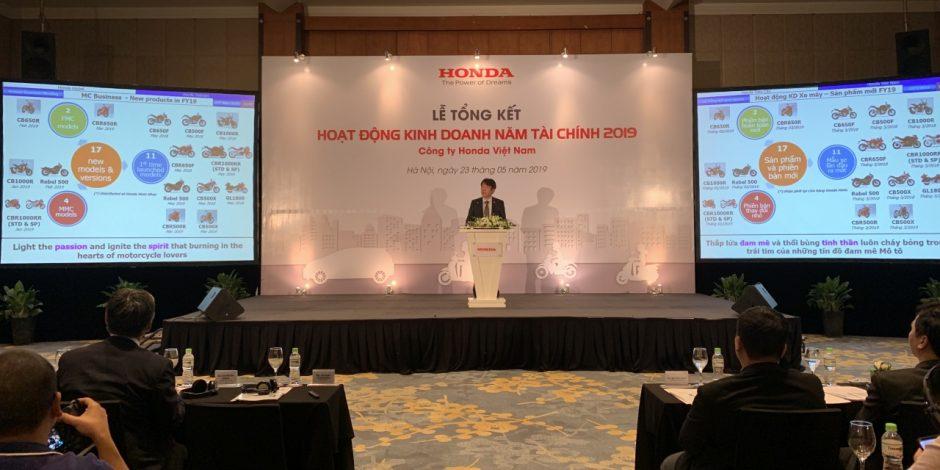 Tổng Giám đốc Honda Việt Nam Keisuke Tsuruzono chia sẻ kết quả kinh doanh năm tài chính 2019.