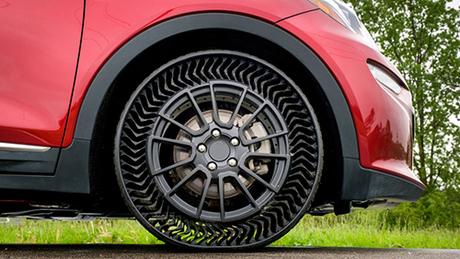 Cấu tạo lốp không hơi của Michelin. Ảnh: Autoblog