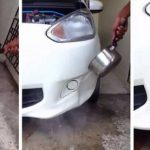Mẹo loại bỏ vết lõm trên xe ô tô bằng nước sôi