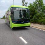 Hé lộ clip chạy thử nghiệm xe buýt điện VinFast