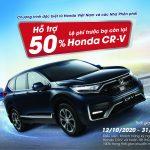 Honda hỗ trợ 50% lệ phí trước bạ còn lại cho khách hàng mua xe CR-V