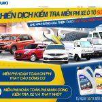 Suzuki kiểm tra xe và thay dầu động cơ miễn phí cho đồng bào miền Trung