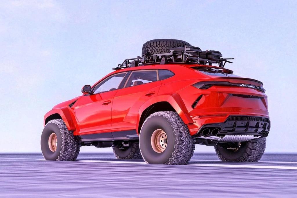 Chiêm ngưỡng bản thiết kế chiếc Lamborghini Urus bản độ off-road