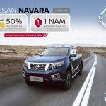 Nissan Navara ưu đãi 50% phí trước bạ đến hết 30/4